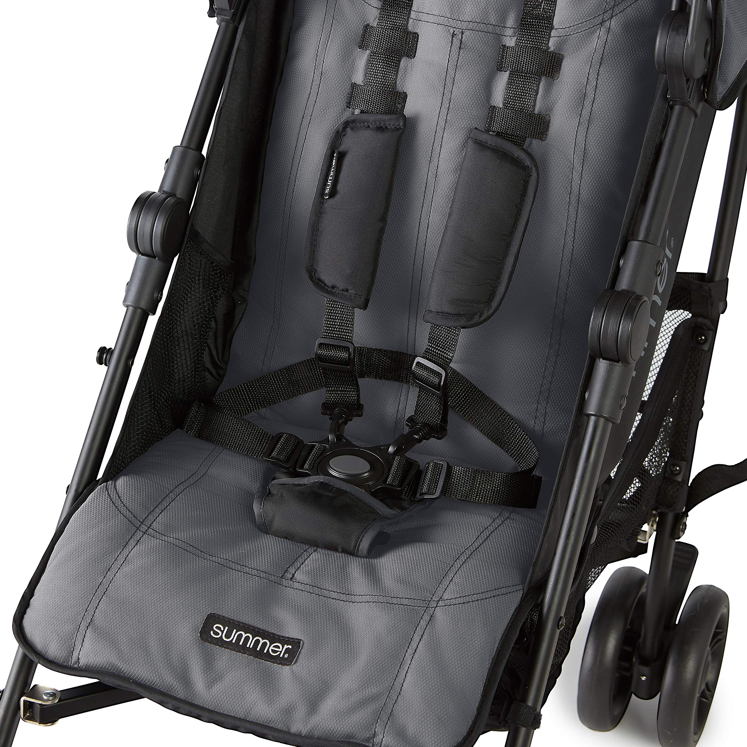 Summer 3Dlite+ Convenience Stroller, Matte Gray - Lightweight Umbrella Stroller with Oversized Canopy, Extra-Large Storage and Compact Fold by Summer Infant (Image #5)