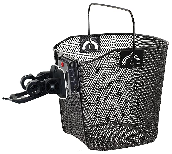 Panier de vélo avec fixation clip Noir 35 x 25 x 25 22 cm  Amazon.fr   Sports et Loisirs 9cdc2b2dd9b