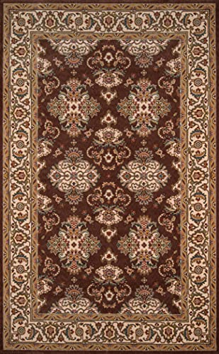 Momeni Rugs Persian Garden Collection, 100 New Zealand Wool Traditional Area Rug, 8 x 10 , Cocoa