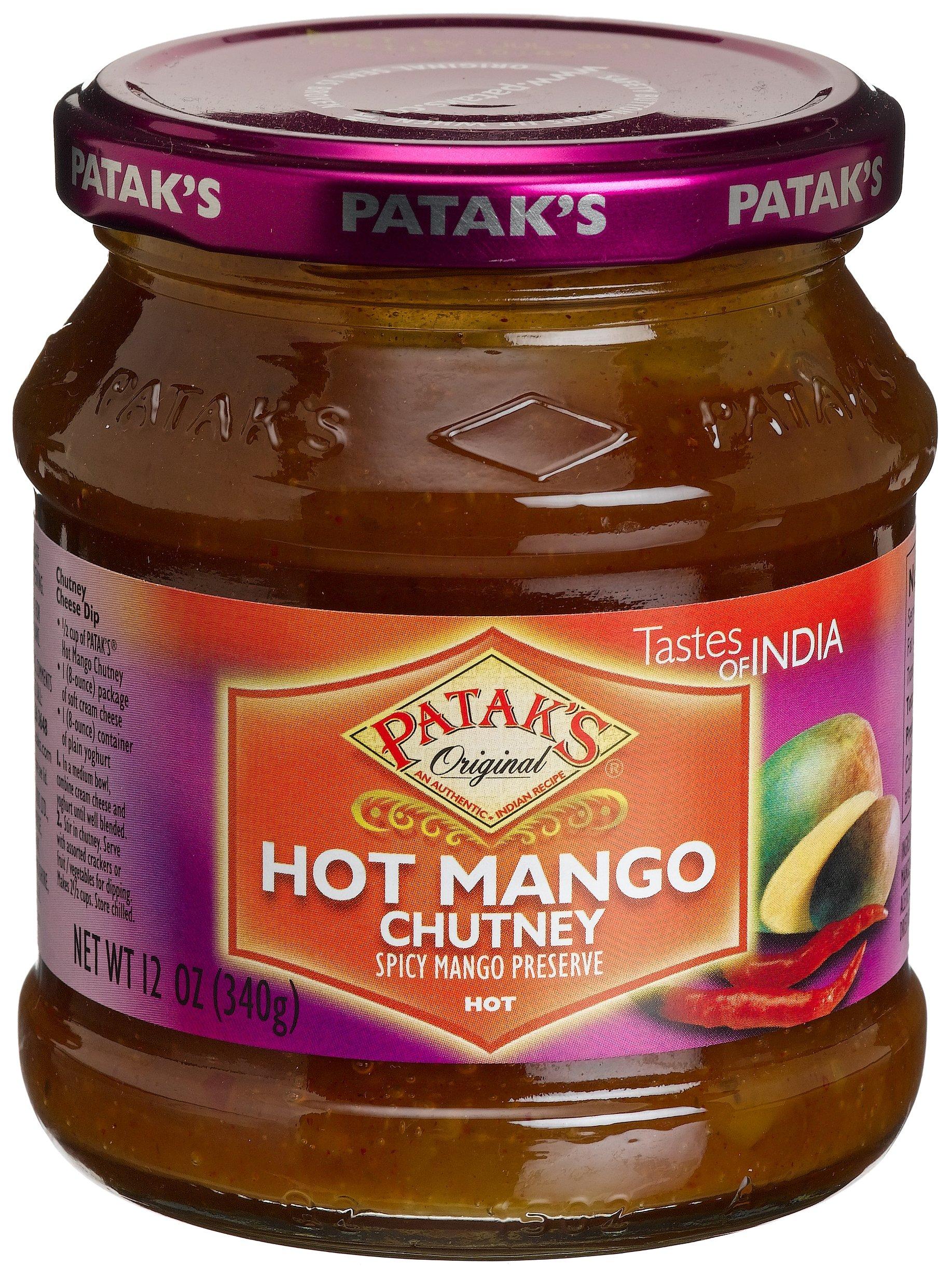Patak's Hot Mango Chutney, 12-Ounce Glass Jars (Pack of 6)