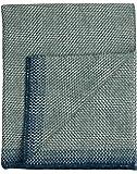 Roros Tweed Designer 100% Norwegian Wool Throw Blanket in Many Patterns (Una in Blue)