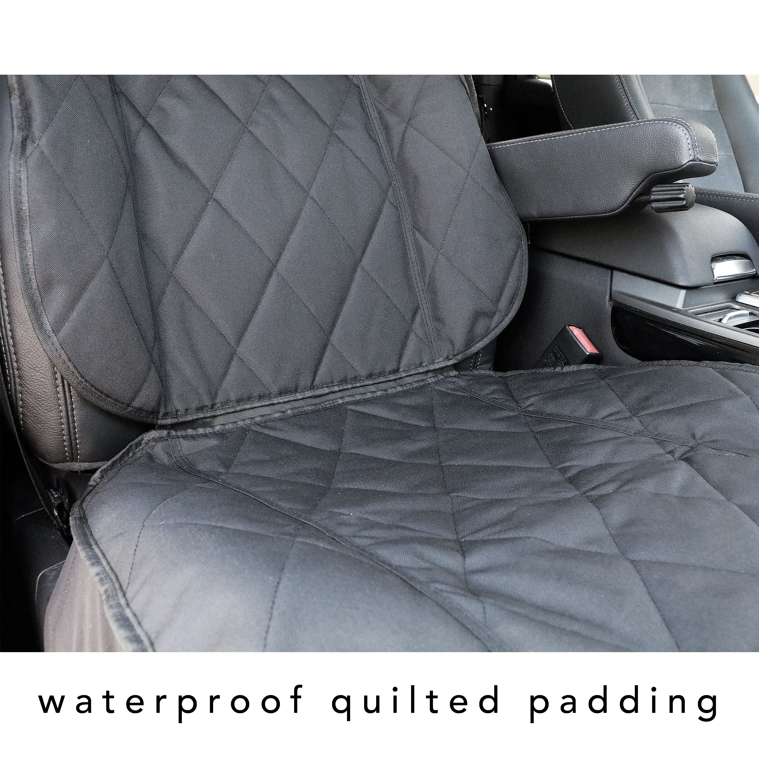 BarksBar Pet Front Seat Cover for Cars - Black, WaterProof & Nonslip Backing by BarksBar (Image #5)
