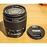 Canon - Obiettivo EF-S, 18 - 55 mm, 1:3,5 - 5,6 III, zoom standard sviluppato specificatamente per fotocamere EOS con baionetta EF-S, compatto e leggero, immagini di alta qualità con tutte le aperture focali, riflessi minimizzati, alta velocità AF, riprese estremamente ravvicinate, ottica senza piombo