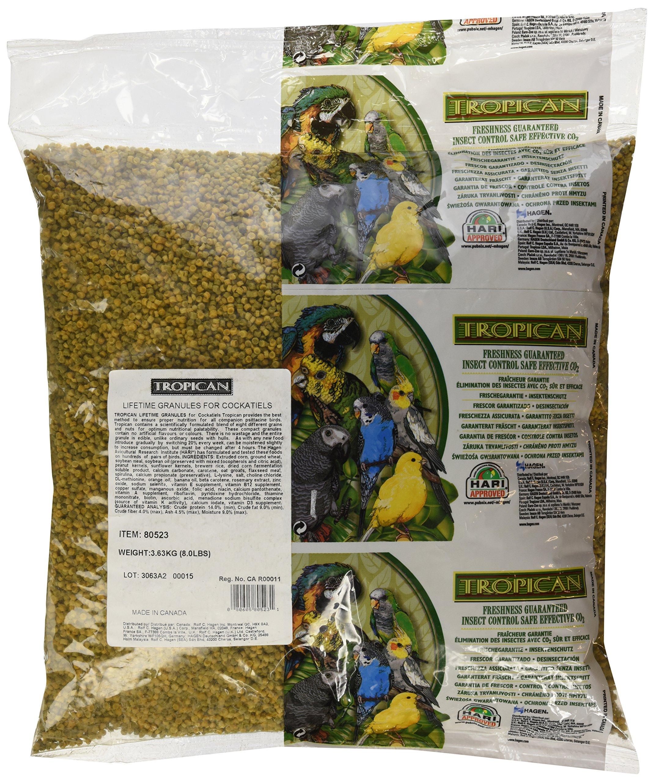 Tropican Lifetime Formula Cockatiel Granules, 8-Pound