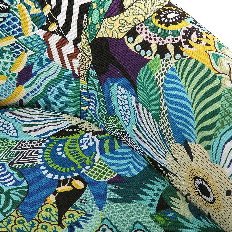 Azul Banco Otomana Versa 19500908 Taburete pie de cama Tropical 45x40x80 cm