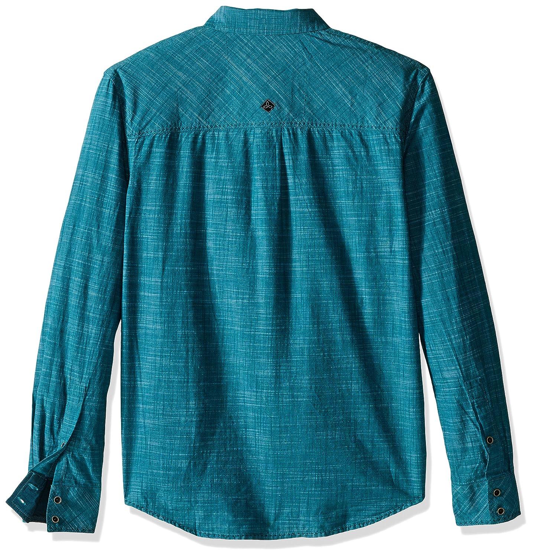 PRANA Mens Rollin Shirt Small Harbor Blue M2ROLL114