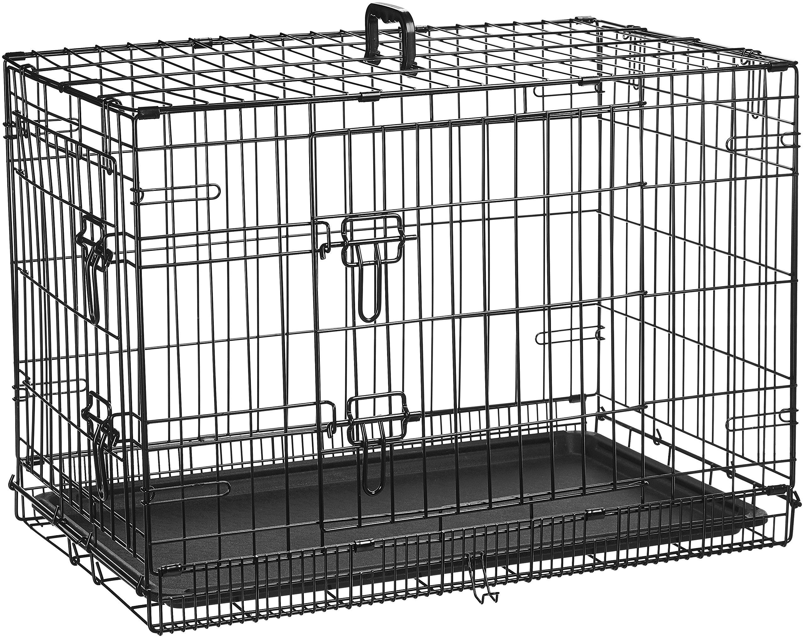 AmazonBasics Double-Door Folding Metal Dog Crate - 30 Inches by AmazonBasics (Image #3)