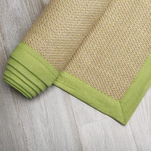 Best Home Fashion Closeout Green Woven Jute Rug 5 x 8