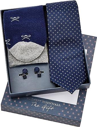 Hackett Sck Tie Cuf Pat Conjunto de corbata, (Navy 595), Talla ...