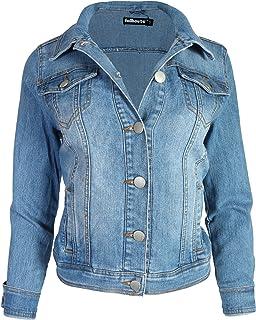 24a553dda8b9 Buffalo David Bitton Womens Knit Stretch Denim Jean Jacket (Blue ...