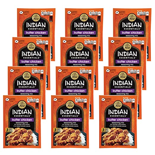 Amazon.com : Simply Asia Indian Essentials Indian Essentials Butter Chicken  Seasoning Mix, 0.9 Oz (Case Of 12) : Grocery U0026 Gourmet Food