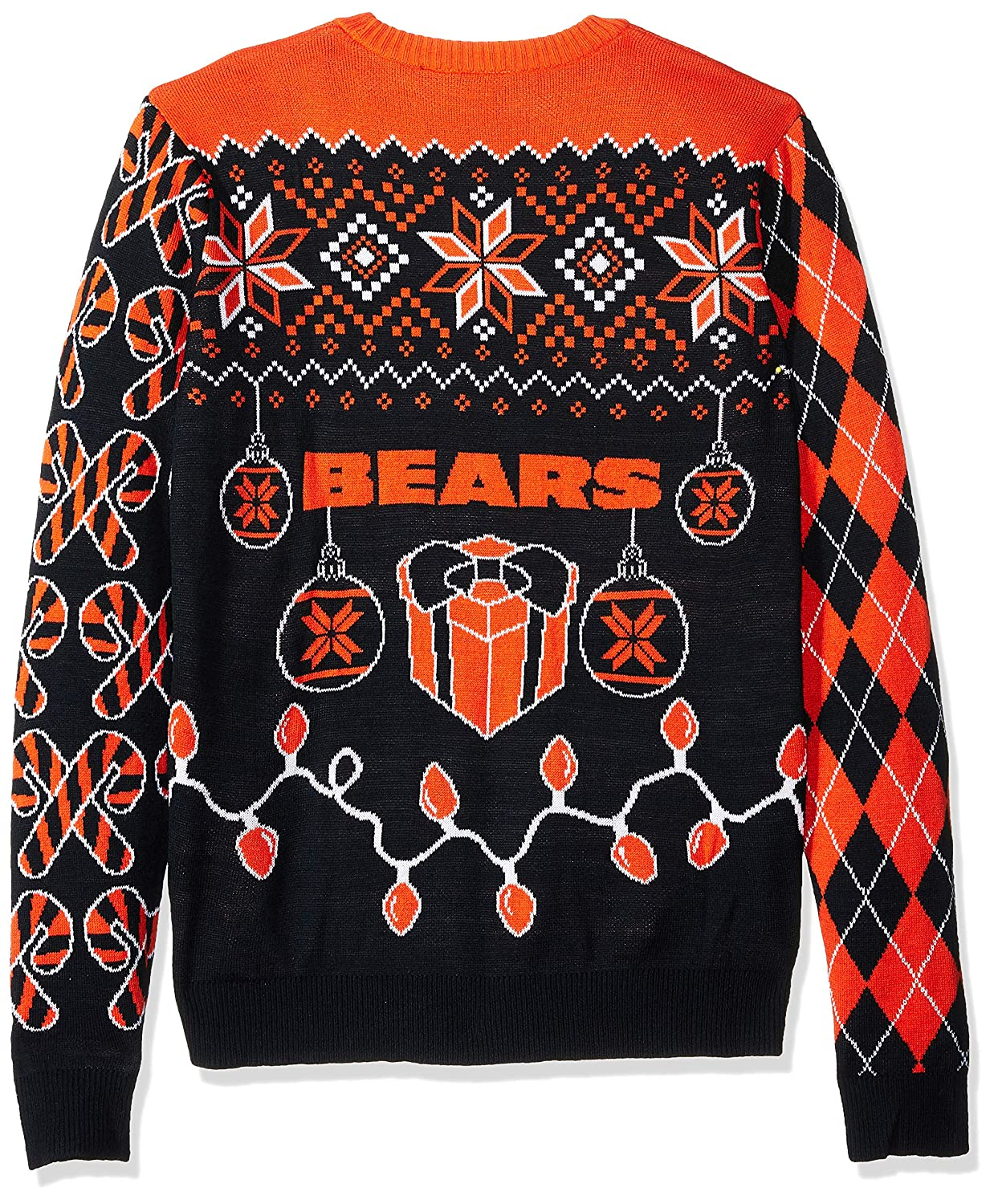 4fc83126 FOCO NFL Mens Holiday Ugly Christmas Tree & Ornament Sweater