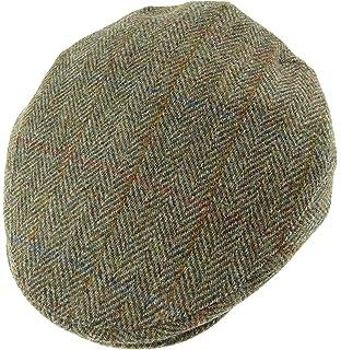 7f5b79b1cef Jaxon   James Herringbone Flat Cap - Charcoal  Amazon.co.uk  Clothing