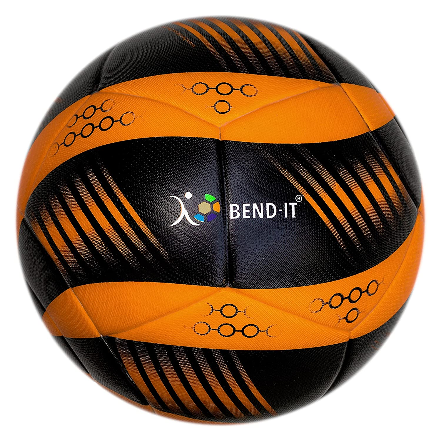 bend-itサッカー、knuckle-it Pro、サッカーボール、Official Match Ball with VPM and VRCテクノロジー B075RLPV3N 5|Orange/Black (Curl-It Pro Amber) Orange/Black (Curl-It Pro Amber) 5