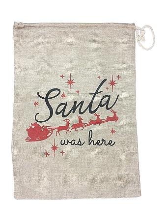 Amazon.com: Bolsa de regalo de Navidad de arpillera con ...