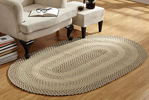 Better Trends Woodbridge Braid Collection is Durable Mildew Moisture Resistant Reversible Indoor Area Utility Rug 100 Wool
