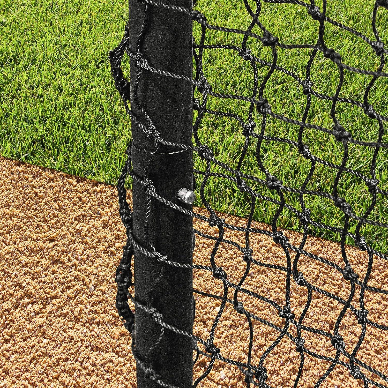 Fortress Baseball Sock Net Screen Pro Quality 7ft x 7ft Baseball Hitting Net for Soft Toss and Hitting Tee Practice Net World Sports