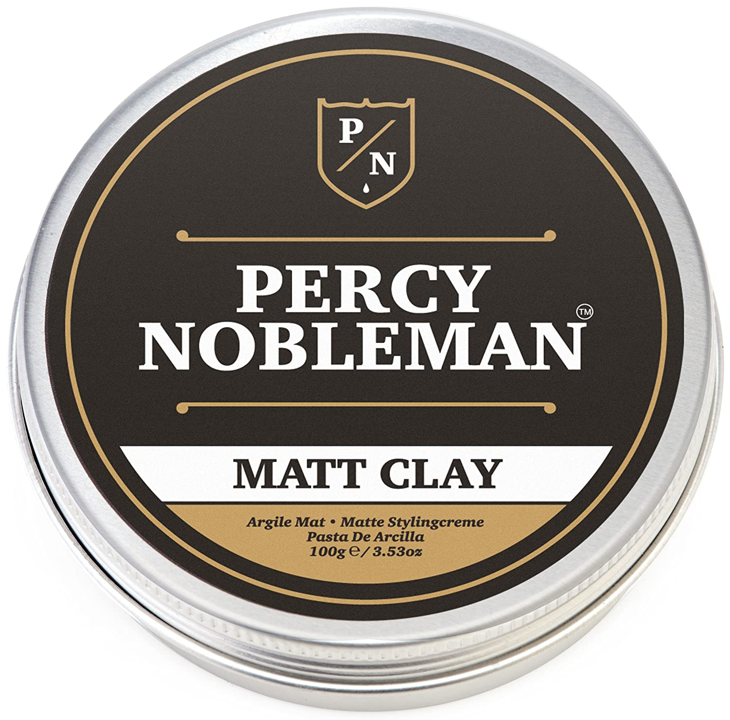 Matte Clay By Percy Nobleman, A Hair Clay For Men, 3.38oz