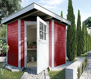 Weka   5 Corner House Shed Quinta Size 1 Swedish Red