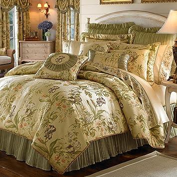 Amazoncom Croscill Iris Comforter Set King Multi Home Kitchen - Croscill galleria king comforter set