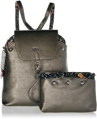 a60971e852 piero guidi Backpack Reversible Zaino Donna, Grigio (Acciaio),  32.0x37.0x14.0 cm (W x H x L): Amazon.it: Scarpe e borse