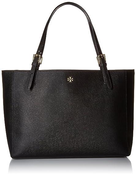 a23d1491e6589 Tory Burch York Buckle Tote - Black  Handbags  Amazon.com