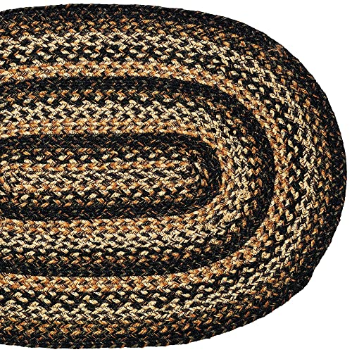 IHF Rugs Black Forest Oval Braided Rug – 36×60