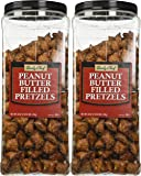Daily Chef Peanut Butter Filled Pretzels - Set of 2 X 44oz Jars - Party/Family Size