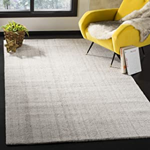 Safavieh Abstract Collection ABT141E Contemporary Handmade Light Grey Polyester Blend Area Rug (3' x 5')