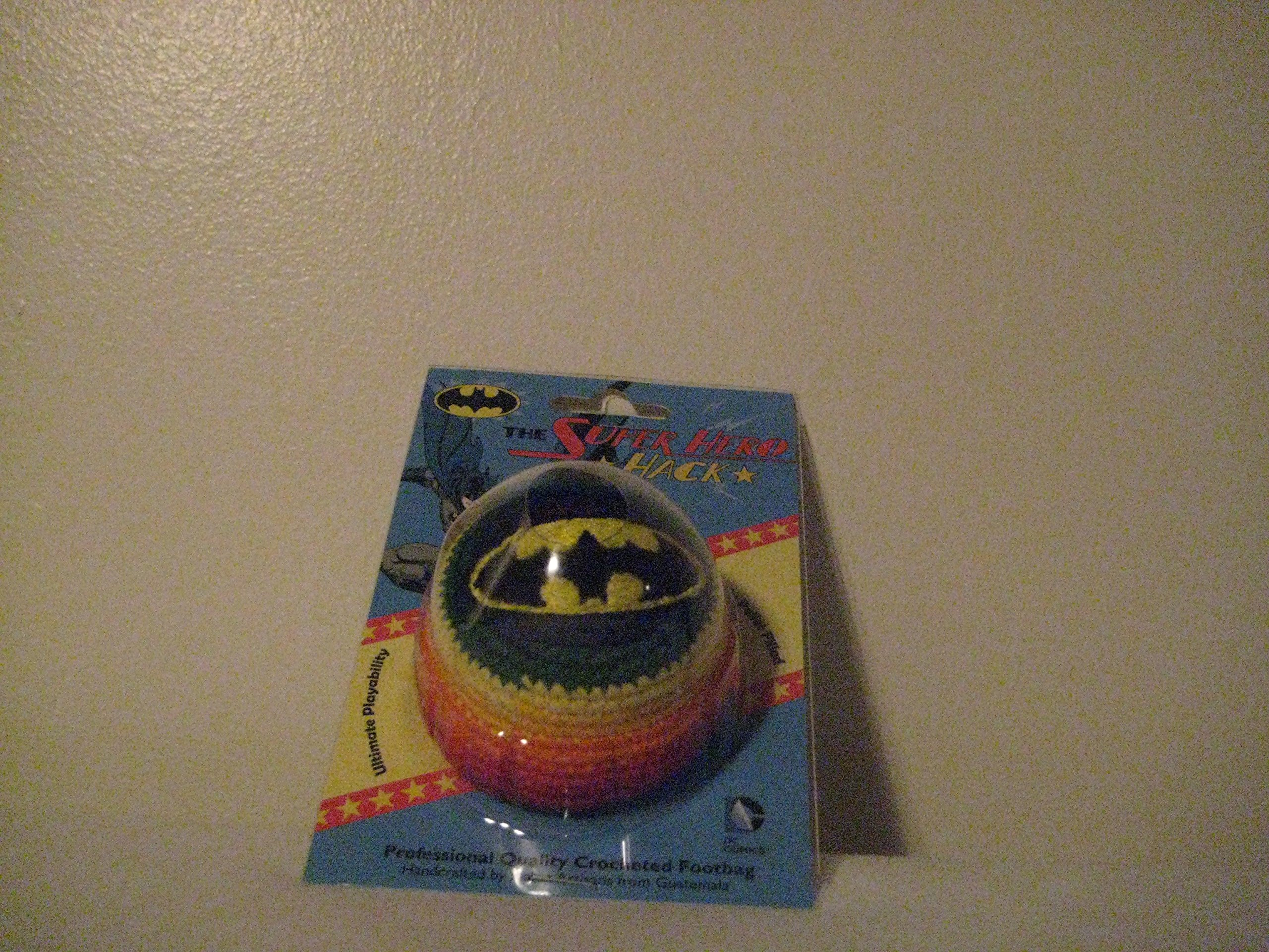 Super Hero Embroidered Hacky Sack Footbag - Batman Logo by Adventure Trading