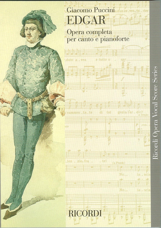 Partitions classique RICORDI PUCCINI G. - EDGAR - CHANT ET PIANO Choeur et ensemble vocal
