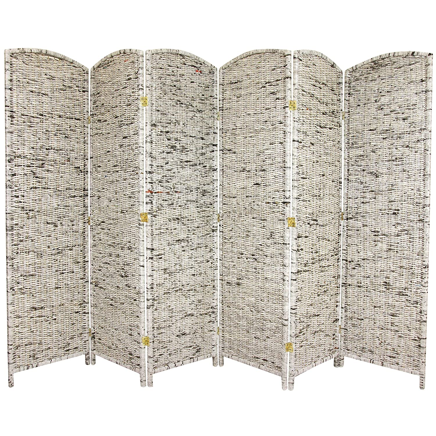 ORIENTAL Furniture 6-Feet Tall Recycled Newspaper Room Divider, 4 Panels