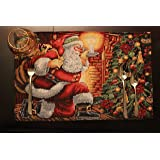 Tache Set of 4 Tapestry Festive Christmas Holiday Down the Chimney Placemats