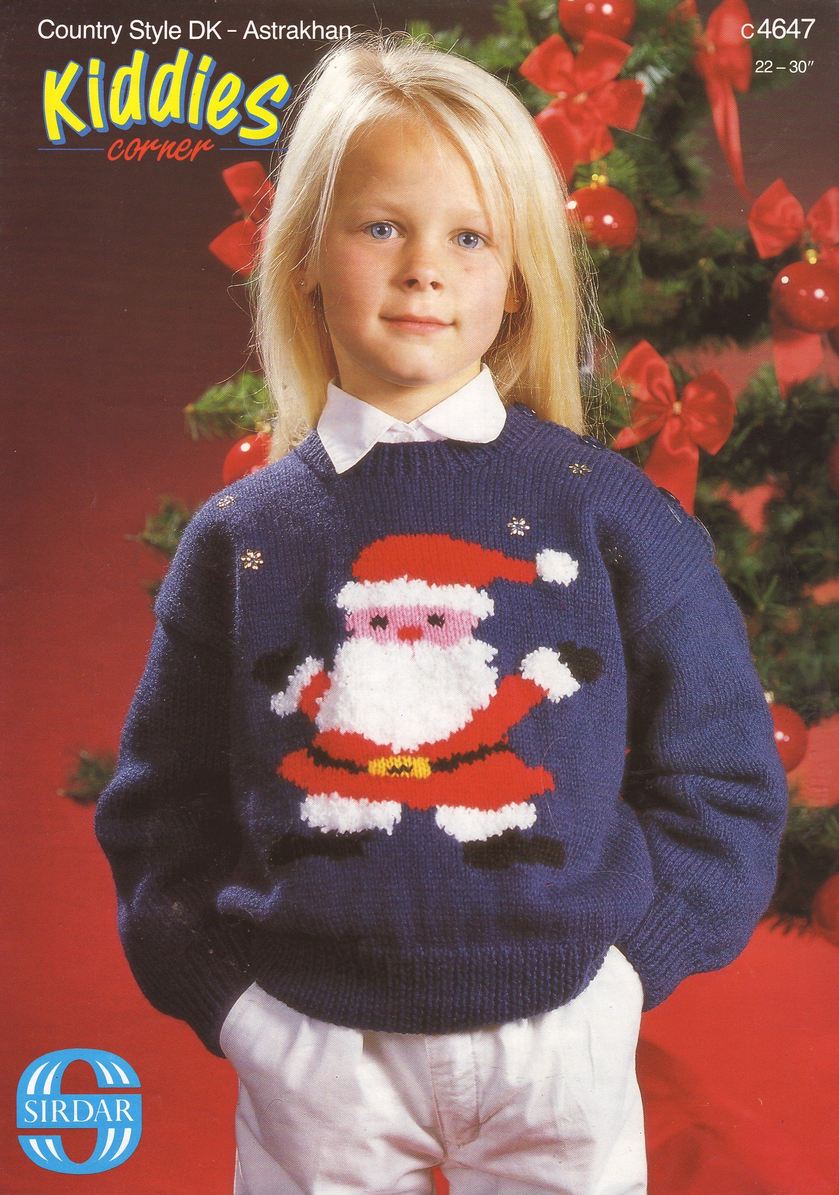 Sirdar childrens father christmas motif sweater knitting pattern sirdar childrens father christmas motif sweater knitting pattern to fit chest 22 24 26 28 30 56cm 61cm 66cm 71cm 76cm amazon sirdar books bankloansurffo Image collections
