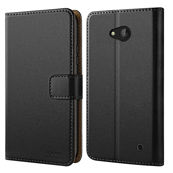 newest 8bba9 c5699 HOOMIL Case Compatible with Microsoft Lumia 640, Premium Leather Flip  Wallet Phone Case for Microsoft Lumia 640 Cover (Black)