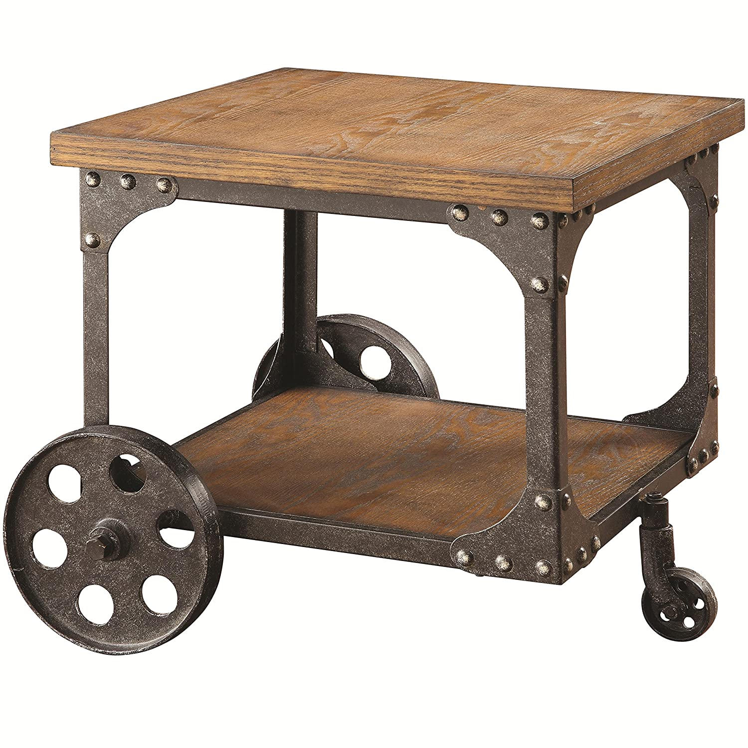 Amazon Coaster Home Furnishings End Table Rustic