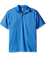 PGA TOUR Men's Short Sleeve Airflux Stripe Polo, Palace Blue, Large