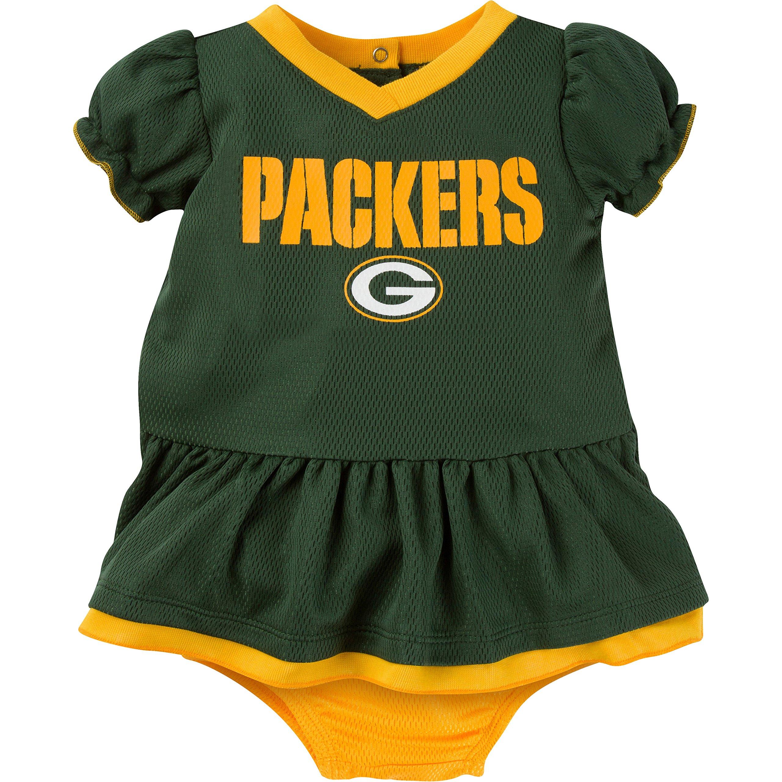 Amazon.com   NFL Green Bay Packers Baby-Girls 2-Piece Football Dress ... 6e6f86016