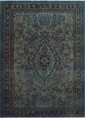 Amazon Com Noori Rug Vintage Distressed Overdyed Yan Area Rug Grey Furniture Decor