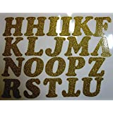 diy 2 inch iron on letters in gold glitter