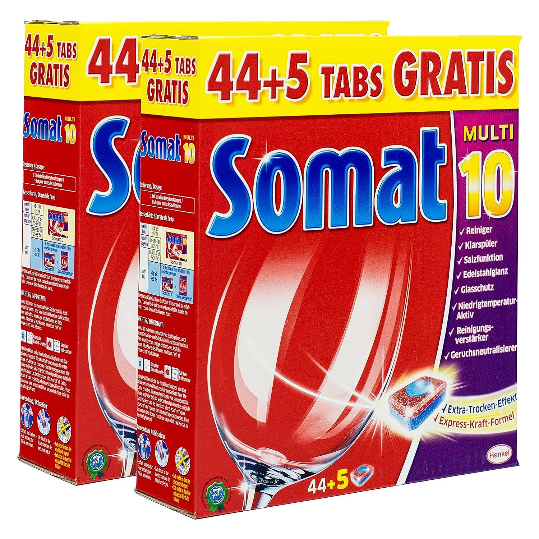 Somat Multi 10 pastillas lavavajillas 44 + 5 Tabs: Amazon.es ...