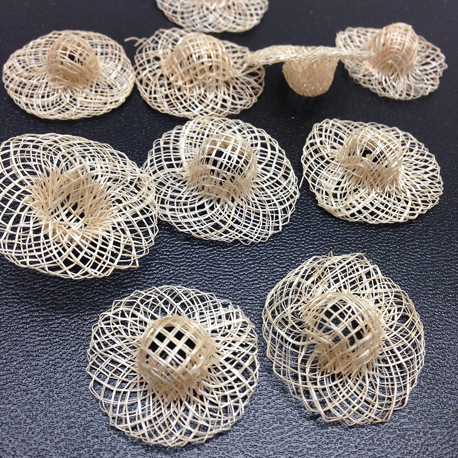 Decoration/… PEPPERLONELY 10PC//Set 1 Inch Mini Natural Woven Sinamay Hats for Crafts