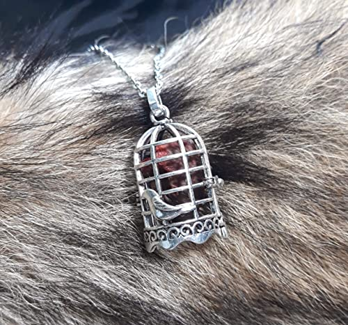 womens gifts Bird and Cage Necklace