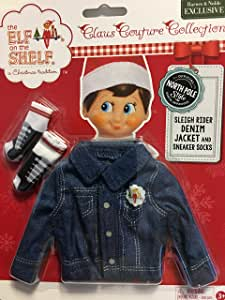 Elf on The Shelf Sleigh Rider Denim Jacket and Sneaker Socks (CCDENJKTS)