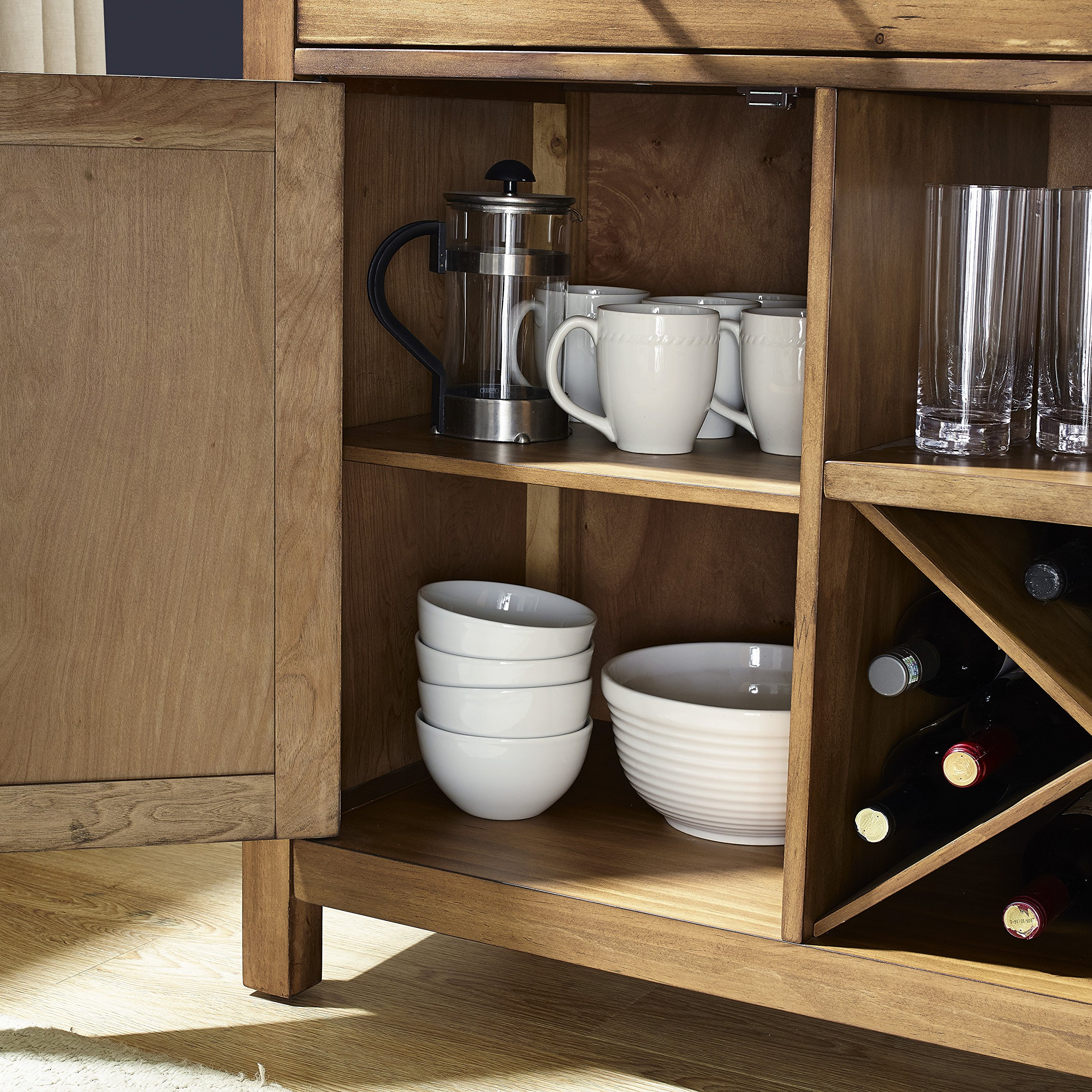 Crosley Furniture Roots Buffet Dining Room Storage - Natural by Crosley Furniture (Image #6)