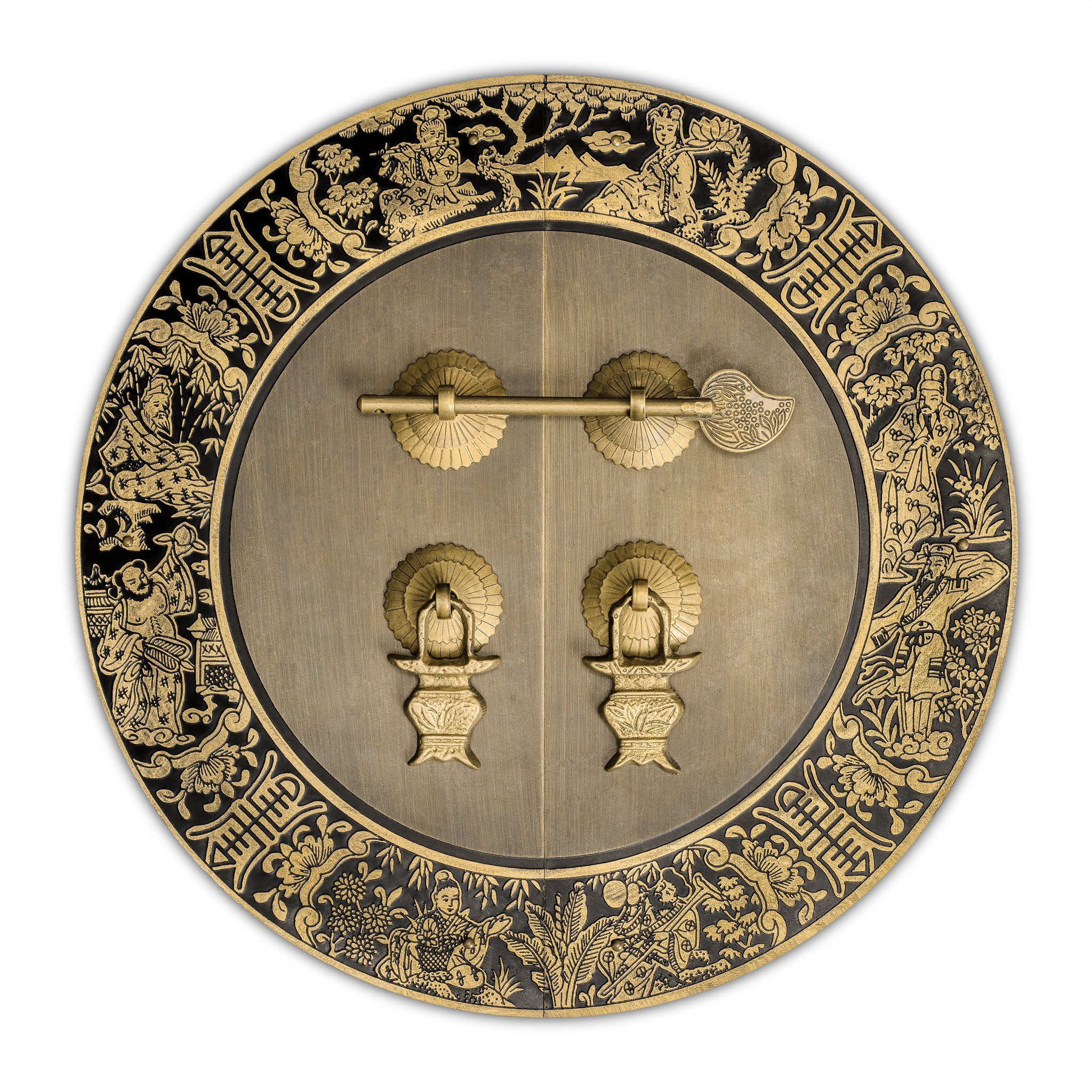 CBH Brass Blessings for Long Life Cabinet Face Plate Backplate Set 9-1/2''