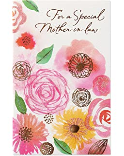 Amazon poem corner happy birthday mother in law greeting card floral birthday card for mother in law with glitter m4hsunfo
