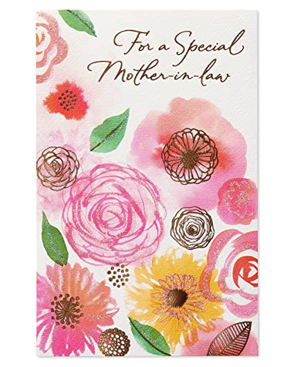 Amazon Floral Birthday Card For Mother In Law With Glitter