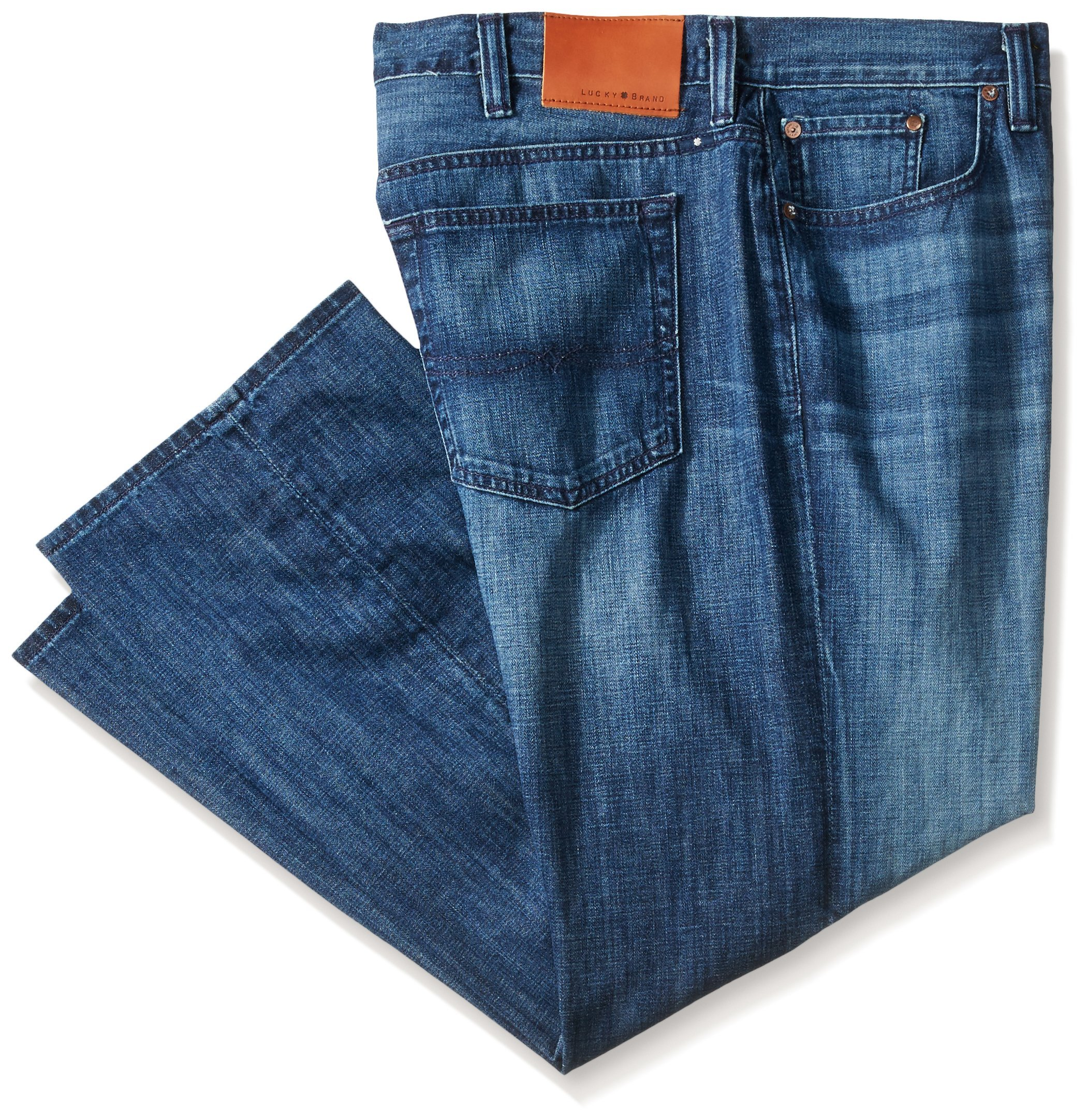Lucky Brand Men's Big and Tall 181 Relaxed Straight-Leg Jean, Indian Wells, 50 x 34