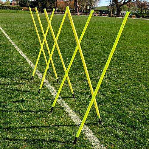 Net World Sports 6FT Spring Loaded Slalom Poles 8qty 16qty Available 25m or 34mm Soccer Football Sports Agility Training 24HR Ship